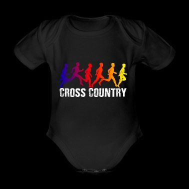 T-shirt Cool Cross Country - Body ecologico per neonato a manica corta