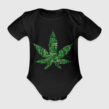 Marijuana 420 grass - Organic Short-sleeved Baby Bodysuit