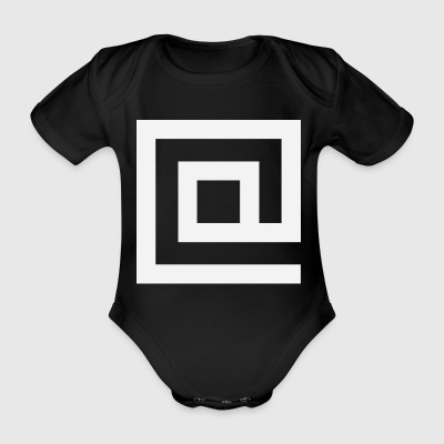 At Squared - Organic Short-sleeved Baby Bodysuit