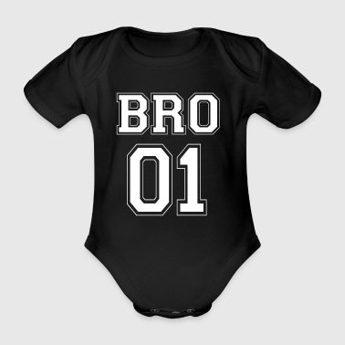 BRO 01 - White Edition - Baby Bio-Kurzarm-Body
