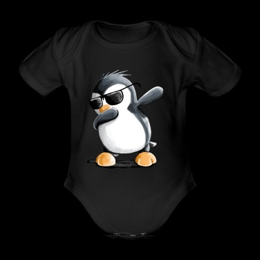 Dabbing Penguin - Danse Dab - Cool - Comic - Fun - Body bébé bio manches courtes