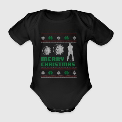 Funny Golfing Golfing Shirt Merry Christmas - Organic Short-sleeved Baby Bodysuit