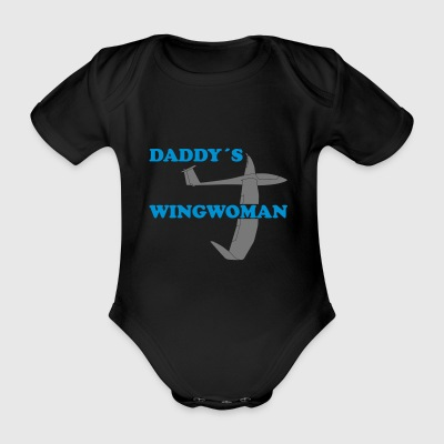 Daddy's Wingwoman gift sport glider - Organic Short-sleeved Baby Bodysuit