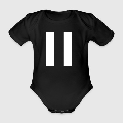 Stripes White - Baby Bio-Kurzarm-Body