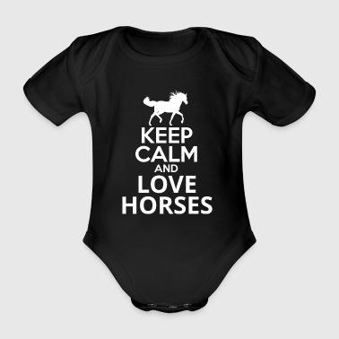 Keep Calm and love hester - Økologisk kortermet baby-body
