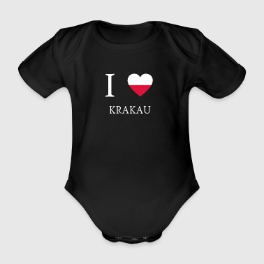 I love poland KRAKOW - Organic Short-sleeved Baby Bodysuit