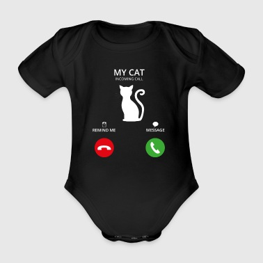 Call Mobile Anruf cat katze cats - Baby Bio-Kurzarm-Body