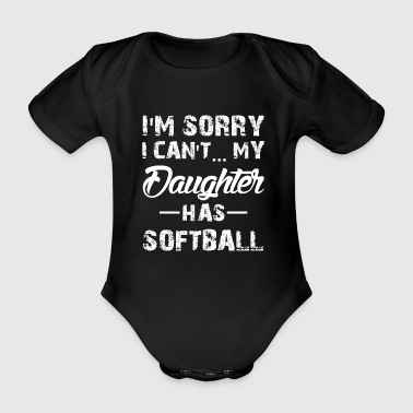Softball Tochter - Baby Bio-Kurzarm-Body