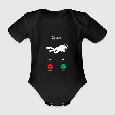 Scuba Diving Scuba Diving is calling! present - Organic Short-sleeved Baby Bodysuit