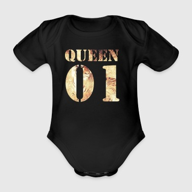 Queen01 | Tiger - Baby Bio-Kurzarm-Body