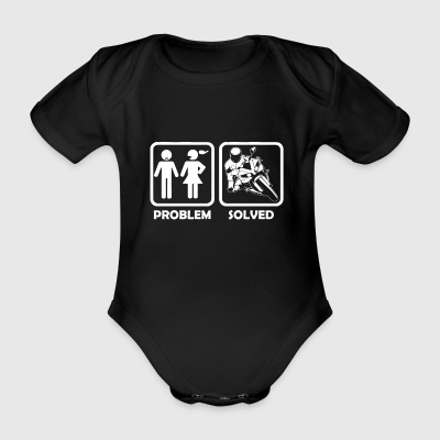 Motorcycle - racing motorcycle problem and solution - Organic Short-sleeved Baby Bodysuit