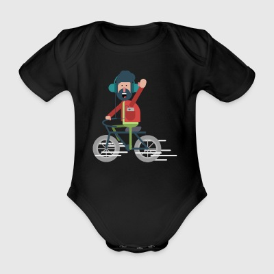 Bicycle Buddy - Baby bio-rompertje met korte mouwen