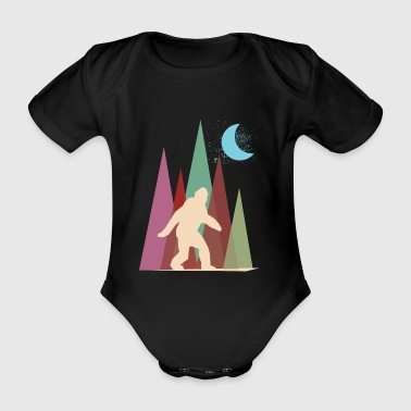 abstract big foot - Organic Short-sleeved Baby Bodysuit