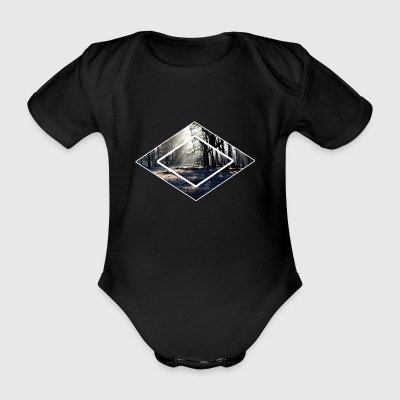 Forest forests in the forest - Organic Short-sleeved Baby Bodysuit