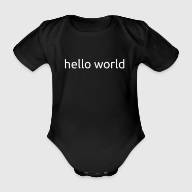 Helloworld white - Organic Short-sleeved Baby Bodysuit