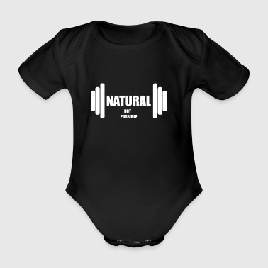 Natural not possible US WHITE - Organic Short-sleeved Baby Bodysuit
