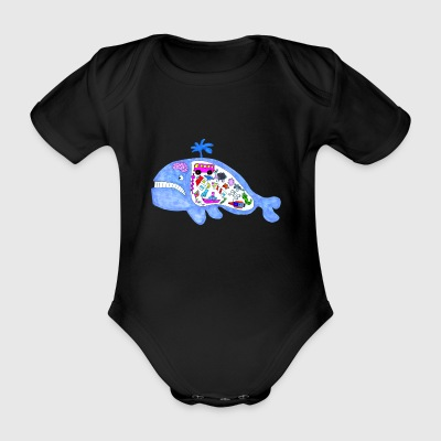 Whale of things - Organic Short-sleeved Baby Bodysuit