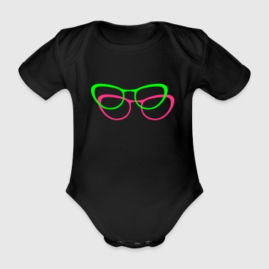 glasses - Organic Short-sleeved Baby Bodysuit