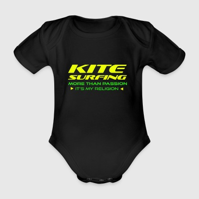 KITESURFING - MORE THAN PASSION - ITS MY RELIGION - Organic Short-sleeved Baby Bodysuit