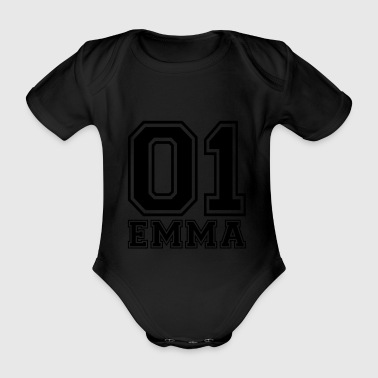 Emma - Name - Baby Bio-Kurzarm-Body