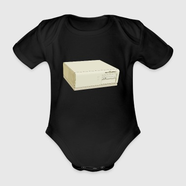 computer - Organic Short-sleeved Baby Bodysuit