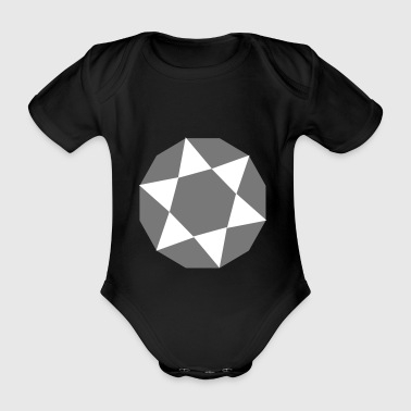 6061912 119292295 Diamond - Økologisk kortermet baby-body