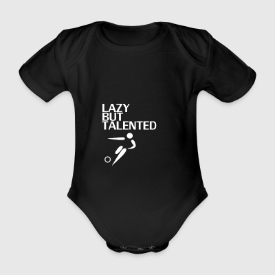 Lazy But Talented - Organic Short-sleeved Baby Bodysuit