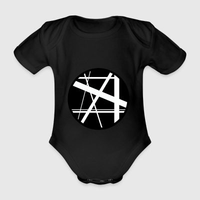 Circle lines1 - Organic Short-sleeved Baby Bodysuit