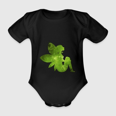 Green fairy - Organic Short-sleeved Baby Bodysuit