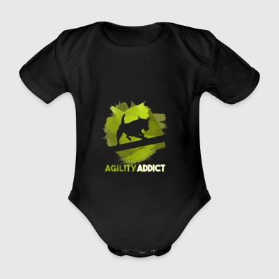Agility Addict Green - Organic Short-sleeved Baby Bodysuit