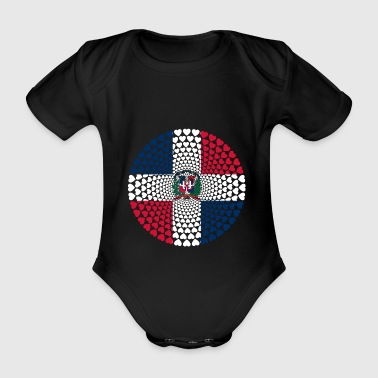 Dominican Republic Dominikanische Love Mandala - Baby Bio-Kurzarm-Body