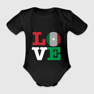 ITALY HEART - Organic Short-sleeved Baby Bodysuit