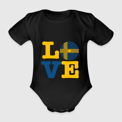 SWEDEN HEART - Organic Short-sleeved Baby Bodysuit