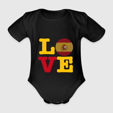 SPAIN HEART - Organic Short-sleeved Baby Bodysuit