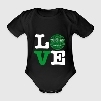 SAUDI ARABIA HEART - Organic Short-sleeved Baby Bodysuit