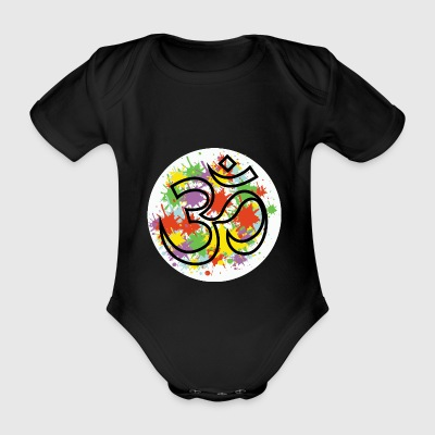 om - Organic Short-sleeved Baby Bodysuit