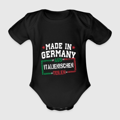 Made in Germany aus Italien - Baby Bio-Kurzarm-Body