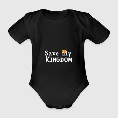 HelloKing, save my kingdom please - Organic Short-sleeved Baby Bodysuit
