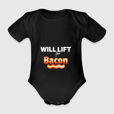 Will lift - Organic Short-sleeved Baby Bodysuit