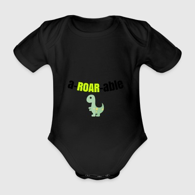 You are aROARable - Organic Short-sleeved Baby Bodysuit
