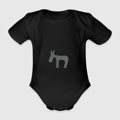 ass - Organic Short-sleeved Baby Bodysuit