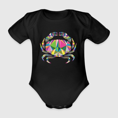 Geometric Crab - Organic Short-sleeved Baby Bodysuit