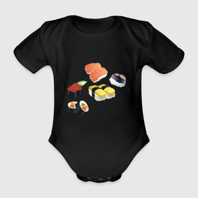 sushi rice rice chopsticks food food japan61 - Organic Short-sleeved Baby Bodysuit
