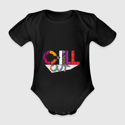 CHILL OUT - Organic Short-sleeved Baby Bodysuit