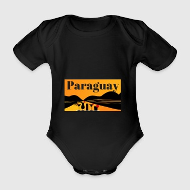 Paraguay design - Organic Short-sleeved Baby Bodysuit