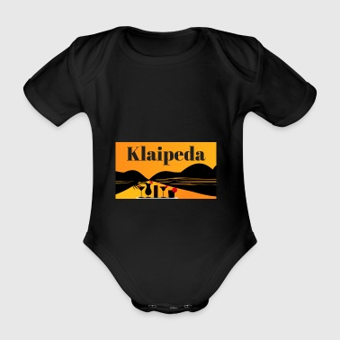 Klaipeda - Lithuania - Organic Short-sleeved Baby Bodysuit