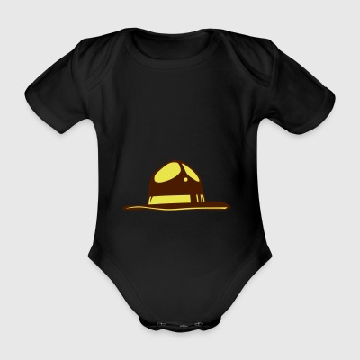 american police hat usa cop 1610 - Organic Short-sleeved Baby Bodysuit