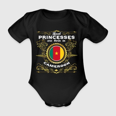 PRINCESS PRINCESS QUEEN BORN CAMEROUN - Body bébé bio manches courtes