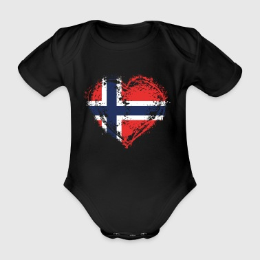 HOME ROOTS COUNTRY LOVE GIFT Norwegen - Baby Bio-Kurzarm-Body