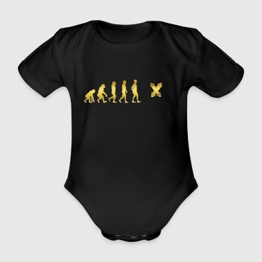 evolution human ekg heartbeat Legendary Longboard - Organic Short-sleeved Baby Bodysuit